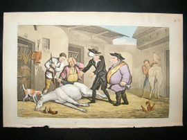 Dr Syntax by Rowlandson 1855 Death of Punch. Horses